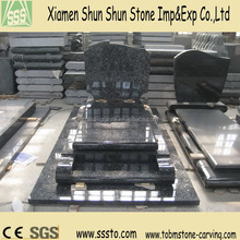 High Quality Silver Pearl Granite Tombstone France Style Design