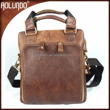 New Arrival Men Leather Shoulder Beige Handbags