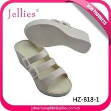Latest Elegant Design Ladies Shoes Plastic PVC Sandals