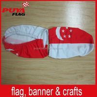 heat transfer printing Flexible fabric custom car mirror sock/car side mirror cover for national day