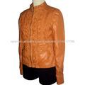 Diseño de la PU chaquetas especiales de cuero para dama, ropa de las mujeres de cuero sintético