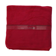 70 x 140 cm red cotton label print microfib bath towel
