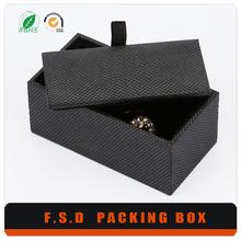 Custom Gift Packaging black velvet cufflinks box