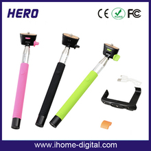 2015 Factory Price Extendable with adjustable phones holders selfie stick