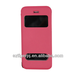 2014 Newest Design of Window style Leather Case for Iphone 5c