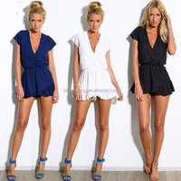 Hot Selling! Deed V sexy ladies one piece girls party dresses