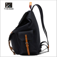 High Quality Canvas Leather Backpack/Wholesale Backpack/Promotional Canvas Backpack