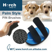 Rubber pin hand tool for bath grooming pet dog hand brush