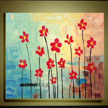 Abstract Knife Flower On Canvas Hand Painted Pictures Hang Oil Painting