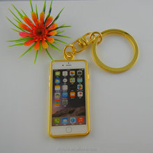 New arrival cell phone shaped metal key holder