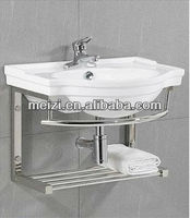 Stainless steel wall mount bathroom sink stand