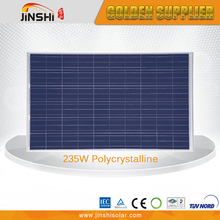 IEC TUV CE certified 235W Polystalline Silicon Solar Panels for home system