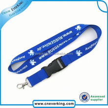 Promotion cheap football play lanyard with a message for a cause