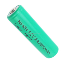 High Quality Ni-Mh Battery 2600mAh AA 1.2V Rechargeable