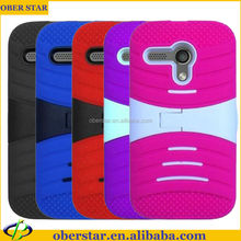 Electric wave line heavy duty shock proof silicon stand phone case cover For Moto G