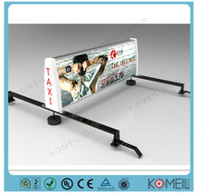 Popular New design slim Taxi LED top light box for ad