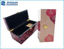 Wood printing fancy gift boxes with compartments