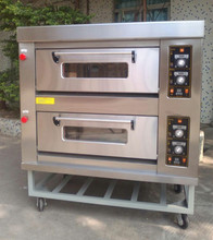 2 Deck 4 Trays Baking Bread Gas Oven