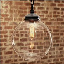 OPAL OR CLEAR HAND BLOWN GLASS HANGING PENDANT LIGHTING