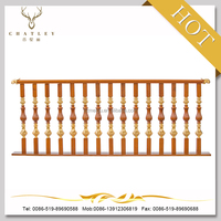 2015 luxurious wooden and cast iron handrail XTL-01 for lodge