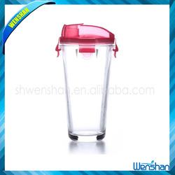 500ml High transparent sports glass filter water bottle