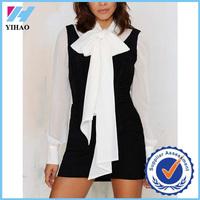 Yihao 2015 Vintage Maxima Fifty ladies black Suedes Midi dresses for women