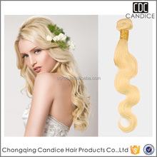 Remy Human Hair Extension Color #613 5a 100% Body Wave Malaysian Hair Weaving