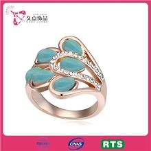 Women 18K Gold Filled Wedding Ring With Rhinestone