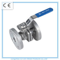 Cangzhou investment casting SS 304 2pc Flanged ball valve
