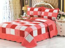 Brand new 100% Cotton fashion design bed sheet patchwork quilt