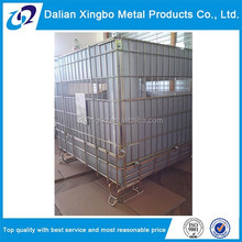 2015 Foldable and stackable rigid steel wire mesh storage cages