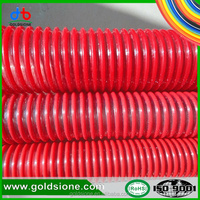"5/8""-6"" standard flexible discharge underground coal sewage winding ribbed pvc helix vacuum grit industrial suction pipe/hose/tu"