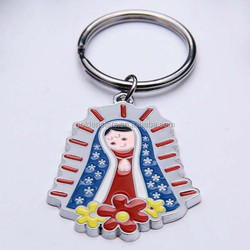 Chinese manufacturer wholesale enamel printing keychains promotion key chain