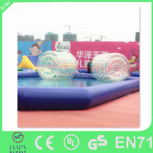 2015 Summer hot selling inflatable water wheel,water rolling ball