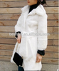 High QualityKorean Style Fur Coat Women Real Rabbit Fur Jacket