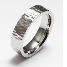 new design hammered 316L stainless steel ring men