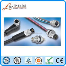 ip67 Waterproof M5 Connector, Male Line End Weld Line Form