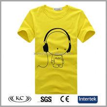 low price popular 100% cotton woman yellow music t shirts uk