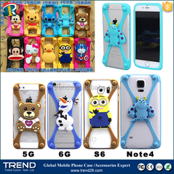 wholesale price universal 3d silicone bumper case for mobile phone