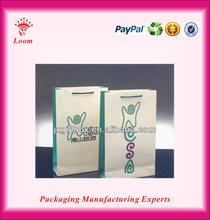 Printed Fashion Paper Shopping Bag luxury paper shopping bag