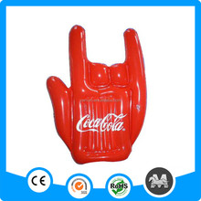 3 fingers gloves inflatable hand finger printed