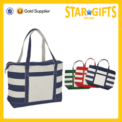 Wholesale printed canvas tote bags blank canvas boat tote bags customized