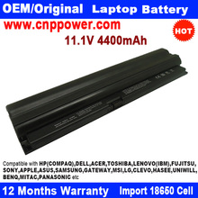"18650 Cell New Replacement Laptop Battery for Lenovo X100e/E10/X120e fits for ThinkPad Edge 11"" Series 11.1V 4400mAh 6 Cell"