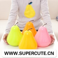 Best Selling product ABS Orange color pear shape design plastic container with lid