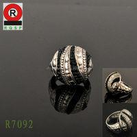 Wholesale Price Individual Black Diamond Silver Rings Gift Rings used boxing rings