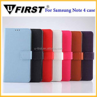 New arrival Litchi pattern wallet leather case for samsung galaxy Note 4