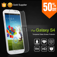 Tempered Glass Screen Protector for Samsung S4 with Retail Packaging