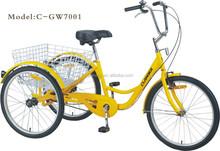 "24"" adult bike /three wheelers bicycles /pedal tricycle"