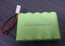 NI-MH AA 800Mah 6V Rechargeable Battery Pack