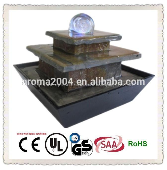 chafariz de pedra figura com bola indoor artesanato